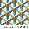 gold and glass seamless pattern - stock photo
