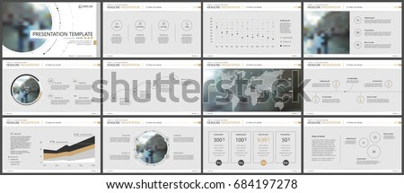Gold and gray elements for infographics on a gray background. Presentation templates. Use in presentation, flyer and leaflet, corporate report, marketing, advertising, annual report, banner.