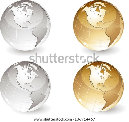 Gold and silver globe