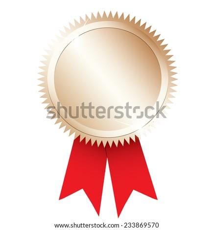 Gold award. - stock vector