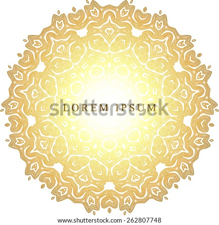 Gold background with a flash of light with space for text - stock vector