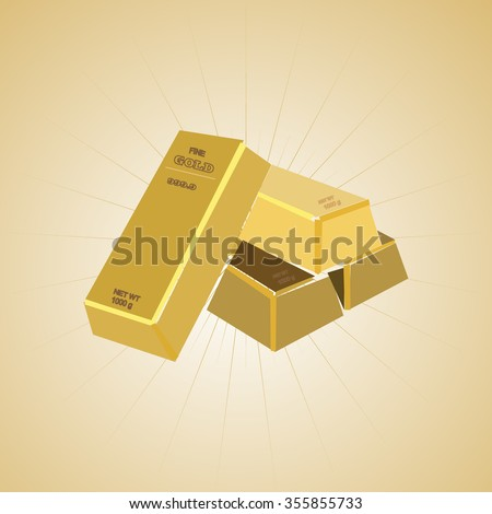 gold bar on a beige background