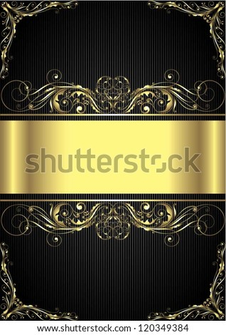 Gold black striped background