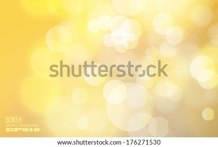 gold bokeh abstract background - stock vector