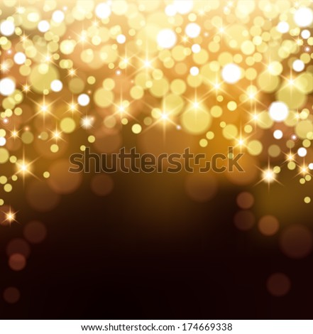 Gold Bokeh Background - stock vector