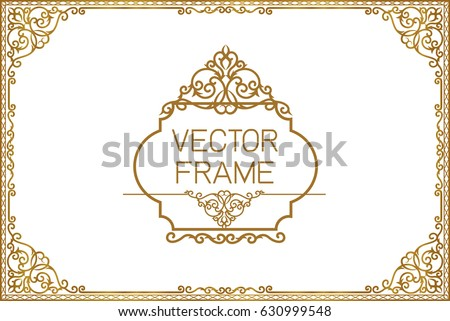 Gold border stock images royalty free images vectors shutterstock gold border design frame photo template certificate template with luxury and modern pattern yadclub Gallery