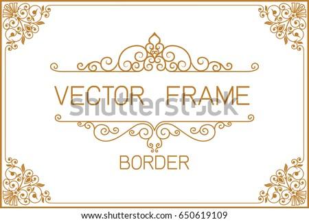 gold border design frame photo templateのベクター画像素材 650619109