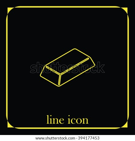Gold bullion icon.