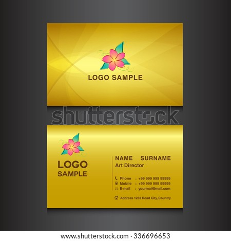 Gold business card designcard design vector stock vector royalty gold business card designcard design vector illustrationgold background flower vector reheart Choice Image