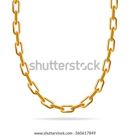 Gold Chain Fashion Design Jewelry Vector Stock Photo Photo Vector