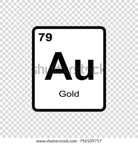 Gold table stock vectors images vector art shutterstock gold chemical element sign with atomic number chemical element of periodic table urtaz Images