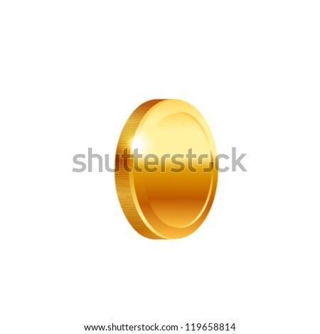 Gold coin - stock vector
