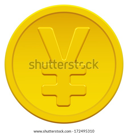 Gold coin icon with the yen and yuan symbol