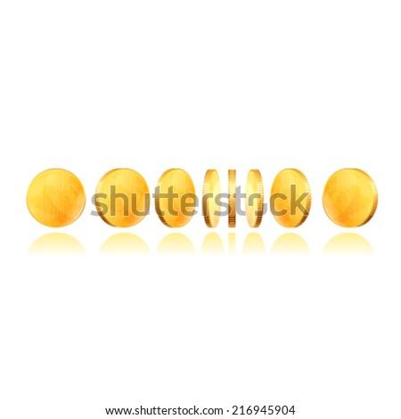 Gold coins - stock vector