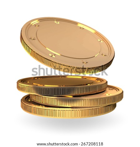 gold coins vector - stock vector