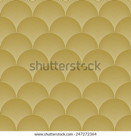 gold colored wave pattern. can by tiled seamlessly. - stock vector