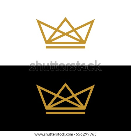 gold crown logo template stock vector royalty free 656299963