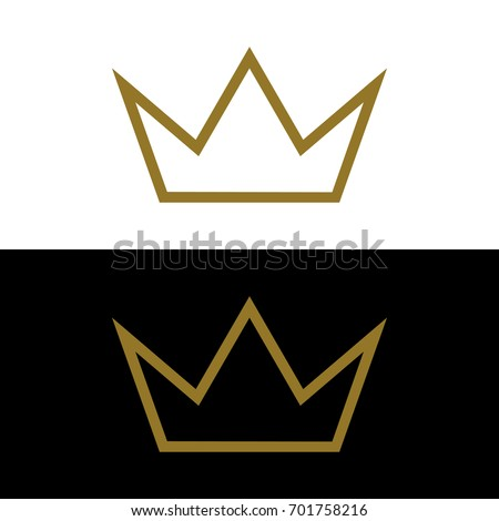gold crown logo template stock vector royalty free 701758216