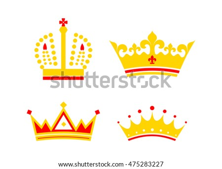 gold crown vector elements