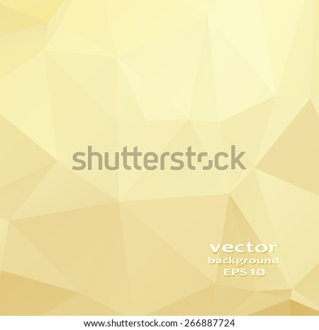 Gold crystal abstract pattern. Business Design Templates - stock vector