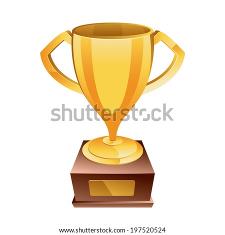 Gold cup, trophy  - stock vector
