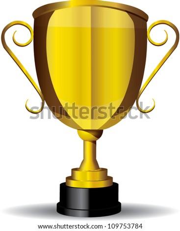 Gold Cup,trophy,EPS10 vector - stock vector
