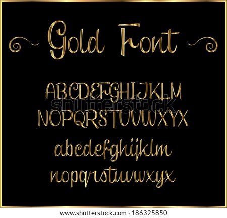 Gold cursive letters stock vector royalty free 186325850 gold cursive letters thecheapjerseys Images