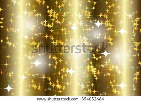 gold Defocused Light, Flickering Lights, Vector abstract festive background with bokeh defocused lights. star - stock vector
