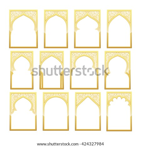 Islamic door stock images royalty free images vectors for Window design template