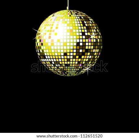 Gold  discoball - stock vector