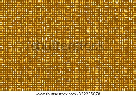 Gold Dots Pattern Seamless Background. EPS8 Vector - stock vector