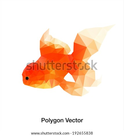 Gold fish. abstract polygon vector - stock vector