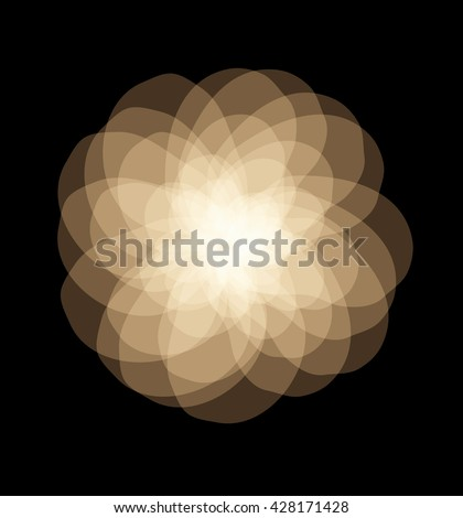 gold flower, abstract vector graphic illustration eps 10 on black background
