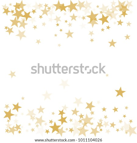 Gold Flying Stars Confetti Magic Christmas Stock Vector 1011104026 ...