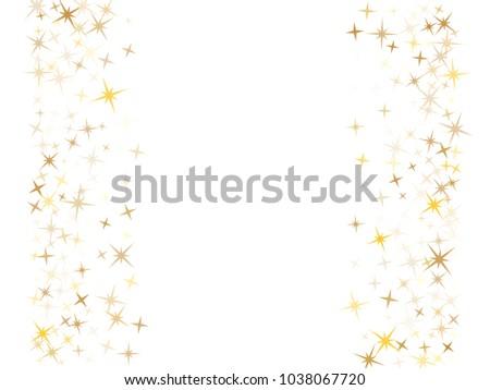 Gold Flying Stars Confetti Magic Holiday Stock Vector 1038067720 ...