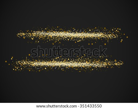 gold font - equal sign. Gold Sign equally icon. Vector illustration. - stock vector