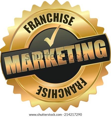 gold frachise marketing vector eps10 sign - stock vector