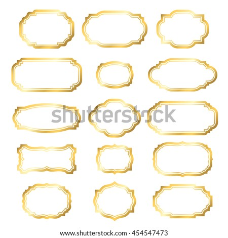 Gold Frame Beautiful Simple Golden Design Stock Vector 454547473 ...