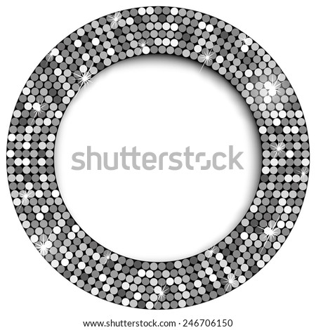 Gold frame with space for your text  - stock vector