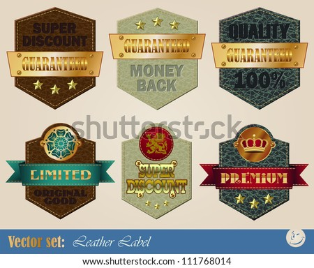 gold-framed labels on different topics for decoration and design