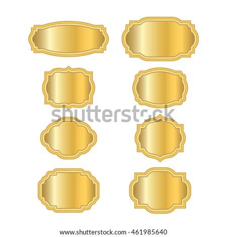 Gold Frames Beautiful Simple Golden Design Stock Vector 567029878