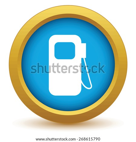 Gold gas station icon on a white background. Vector illustration - stock vector