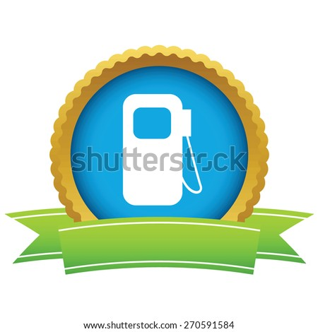 Gold gas station logo on a white background. Vector illustration - stock vector