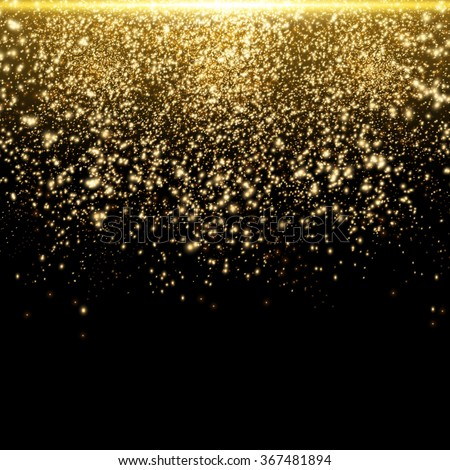 Gold Glitter Dust Texture.Gold Particles. Luxury Design. Vector illustration