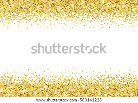 Vector Border Shimmer Stars Gold Sparkle Stock Vector 468495008 - Shutterstock