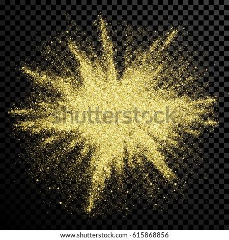 gold glitter powder explosion golden dust image vectorielle de stock de 615868856 shutterstock. Black Bedroom Furniture Sets. Home Design Ideas