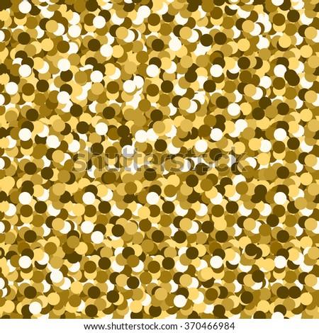 Gold glitter seamless pattern vector - stock vector