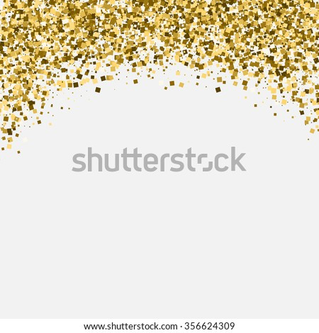 Gold glitter shimmery heading invitation card stock vector 356624309 gold glitter shimmery heading invitation card or flyer with sparkling top on white background stopboris Images