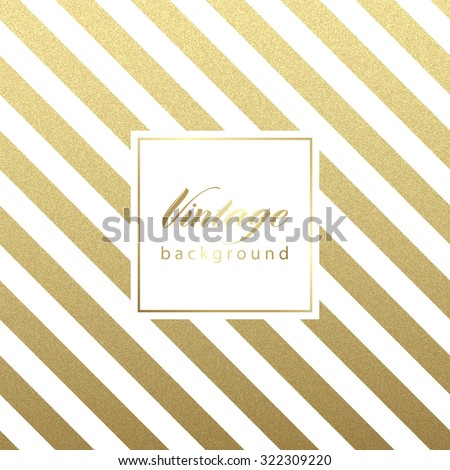 Gold glittering diagonal lines pattern on black background. . Classic pattern. Vector design - stock vector
