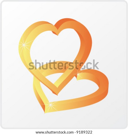 gold heart`s icon